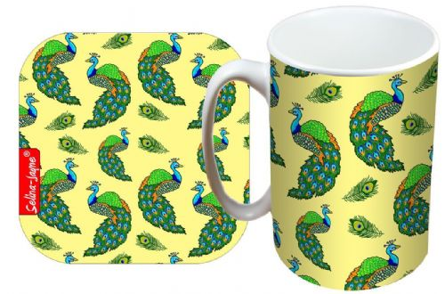 Selina-Jayne Peacocks Limited Edition Designer Mug and Coaster Gift Set